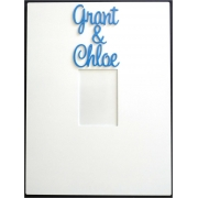 Personalised Picture / Photo Frames Couples Frame (shown here with bermuda blue lettering)