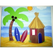 Artwork Childrens Room Decor - Hawaiian 1 Kids Wall Art Canvas
