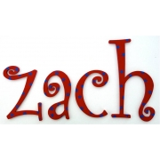 Alphabet Letters HandpaintedChoose your font & sizeRed with Blue Stars