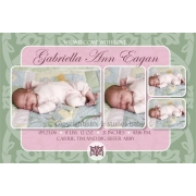 Christening Invitation 'Regal Mint Pink'