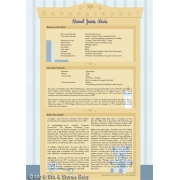Birth Announcement Card/Postcard'Babyography Birth Certificate Design'
