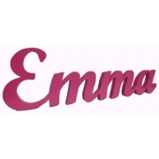 Scripted Name Plaque4 letter nameLARGE Impact Font(shown here in dark pink gloss)