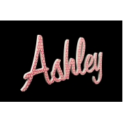 Scripted Name Plaque.LARGE Retro Font (Fabric)6 letter name(shown here in vintage pink flower fabric)