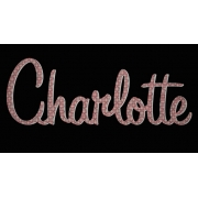 Scripted Name Plaque.LARGE Retro Font (Fabric)9 letter name(shown here in navy star and check fabric)