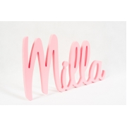 Scripted Name Plaque.LARGE Retro Font5 letter name(shown here in pink