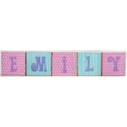 .Wooden Blocks - PersonalisedBLOCKS - GIRLS (LARGE)choose your colours, motifs and name