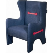Wing Chair - Dark Denim
