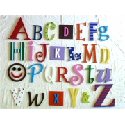 Alphabet Letters Full Wooden Wall Set A-ZChoose your colour themeLARGE SET - GIRLS/NEUTRAL