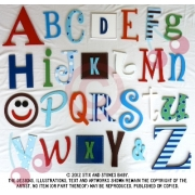 Alphabet Letters Full Wooden Wall Set A-ZChoose your colour themeLARGE SET - BOYS