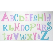 Alphabet Letters Full Wooden Wall Set A-ZChoose your colour themeSMALL SET - GIRLSON SALE 1 SET ONLY 'AS PICTURED' READY TO GO