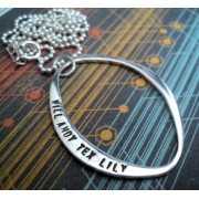 Abstract Silver Stamped Necklace