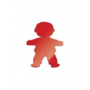 Wall Motif Boy Coloured Acrylic 25 cm high
