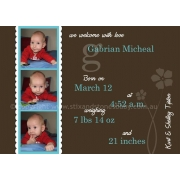 Christening Invitation 'Little Man'