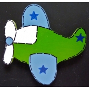 Artwork Hanger Set - Aeroplane Blue & GreenDisplay your child's pictures