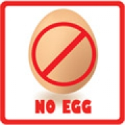 .Lunch Labels - Allergy Warning No Egg 24 labelsfree shipping