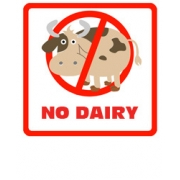 .Lunch Labels - Allergy Warning No Dairy 24 labelsfree shipping