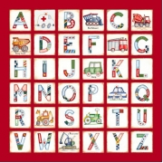 Canvas Alphabet - BOYS ConstructionAvail. in 20 different colours