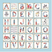 Canvas Alphabet - BOYS FarmAvail. in 20 different colours