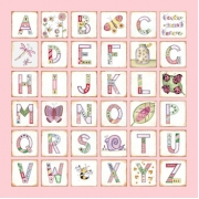 Canvas Alphabet for kids - GIRLS Beautiful Bugs