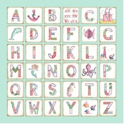 Canvas Alphabet - GIRLS MermaidAvail. in 20 different colours