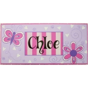 Name Plaque'Butterfly Mauve/Pink'
