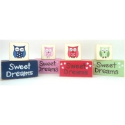 Sweet Dreams/Baby Sleeping Sign - Wooden Blocksyou choose your own colours & text