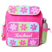 Backpack Personalised - Pink Flowers