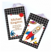 Rocket Ship - Luggage Tag