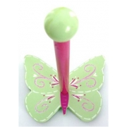 The Band StandButterfly - Swirly Green & Pink