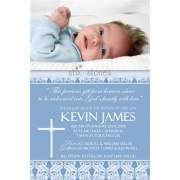 Christening Invitation 'Baptism - Blue 1