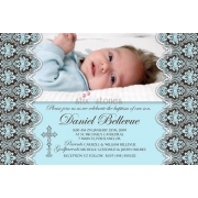 Christening Invitation 'Baptism - Blue 2'