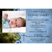 Christening Invitation 'Baptism - Blue 3'