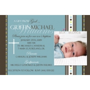Christening Invitation 'Baptism - Blue 5'