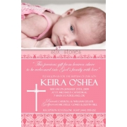 Christening Invitation 'Baptism - Pink 1