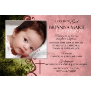 Christening Invitation 'Baptism - Pink 3'
