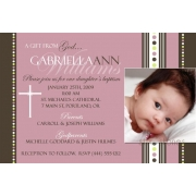 Christening Invitation 'Baptism - Pink 5'