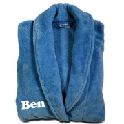 Bathrobe Personalised - blue (sizes 8-10)