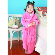 Bathrobe Personalised - pink (size 8-12)