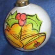 Bauble Christmas Handpainted Ceramic & PersonalisedBells