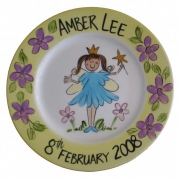 Handpainted Plate - Blue Petal Fairy