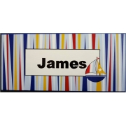 Name Plaque'Sailing Stripes'