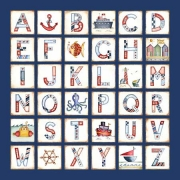 Canvas Alphabet for kids - BOYS Nautical