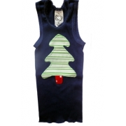 Christmas Clothing Singlet - Navy Tree Size 00Last one left!