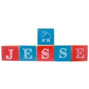 .Wooden Blocks - PersonalisedBLOCKS - BOYS (SMALL)choose your colours, motifs and name
