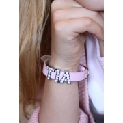 Girls Pink Name Bracelet