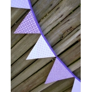 Bunting - Purple Passion10 flags