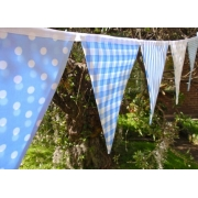 Bunting - Ice Blue10 flags