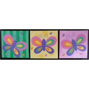 Butterfly Set - Yellow, Lime & Pink(Set of 3)