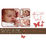 Christening Invitation 'Butterfly Kisses'