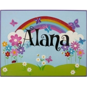 Name Plaque'Rainbow'